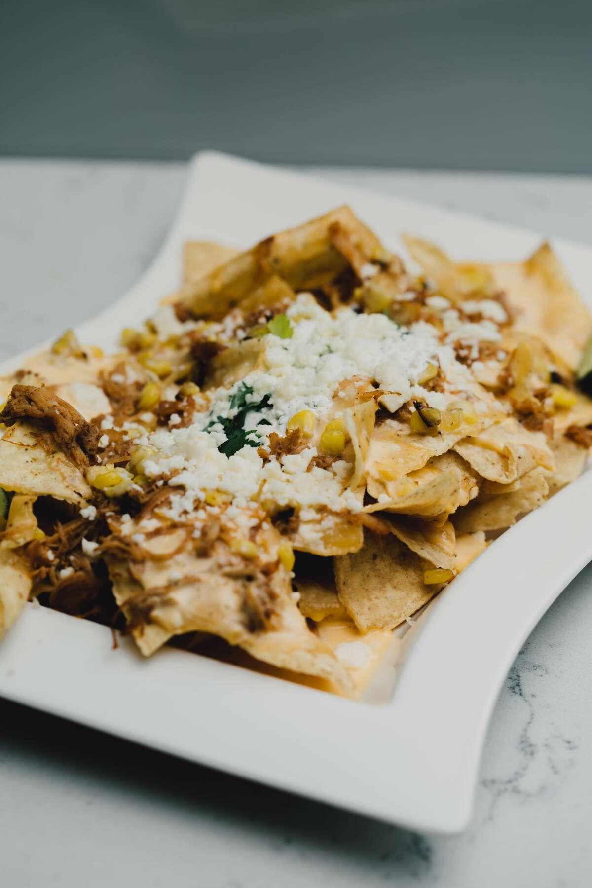 Street Corn Chicken Nachos: $12Where you can find it: SA GRILLE