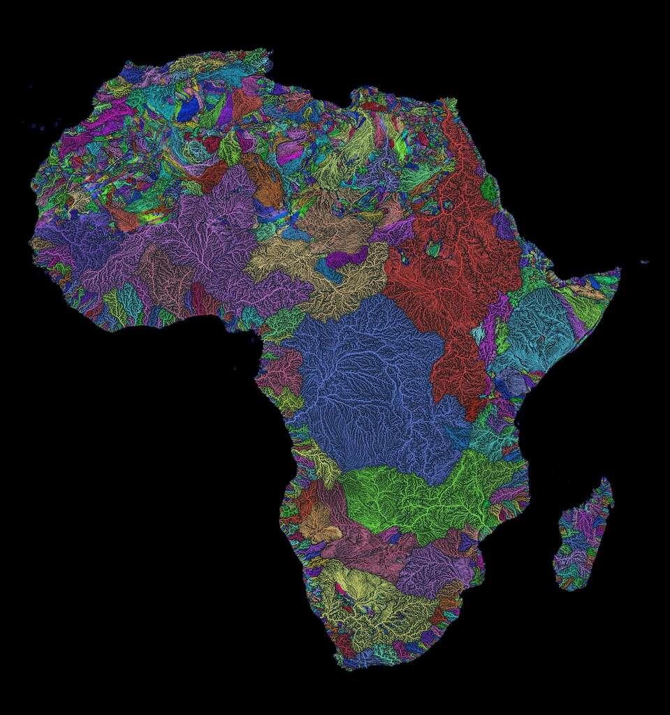 Africa S River Basins Created By Robert Szucs Photo Robert Szucs