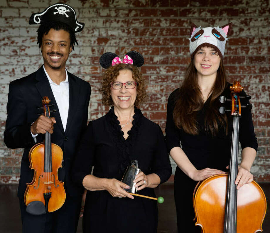 A tradition returns this Halloween season with the Fort Bend Symphony's free performance of Hauntcert at Sugar Land Town Square, Texas 6 at U.S. 59, Saturday, Oct. 29, at 2 p.m. From left are Jordon Nickerson, Andrea Cope and Katherine Leskin. Photo: Susan Lynch