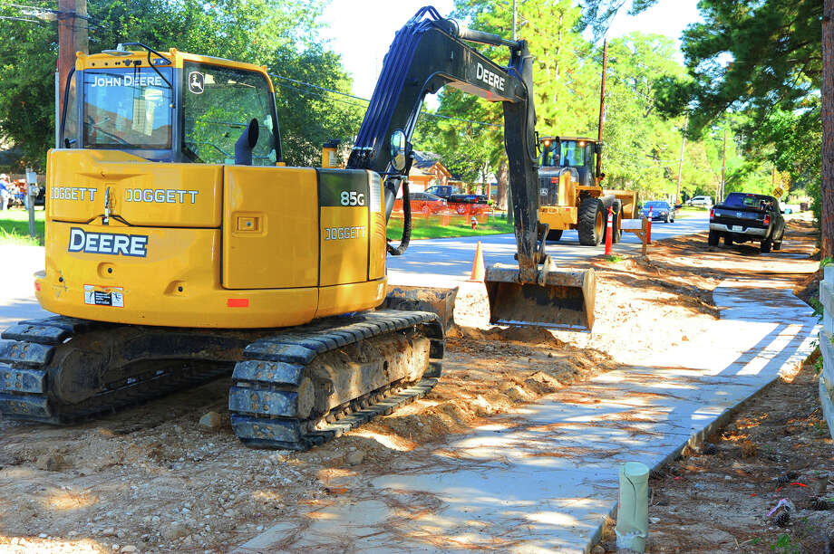 Tomball sidewalk and road construction is underway on Zion Road near Tomball High School. The most recent budget calls for around $600,000 in sidewalk projects to Quinn Road between Rudel Drive and FM 2920 and along Holderrieth Blvd. between Graham Dr. and FM 2920. That's being funded by money saved from the Zion Rd. project in the capital projects fund (almost $300,000) and another $323,000 from the red light camera fund.