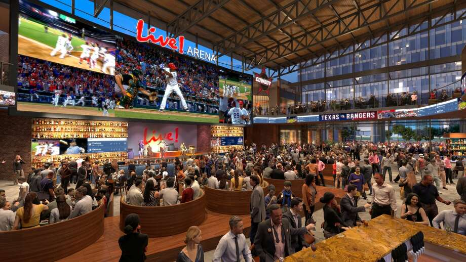 Texas Live! is a 200,000-square-foot entertainment space, complete with a hotel and convention, is set to open in Arlington, Texas in the spring of 2018,The Dallas Morning News reported.The new space will cost about $250 million and will be located next to the Texas Rangers' Globe Life Park. Photo: Courtesy/Texas Live!