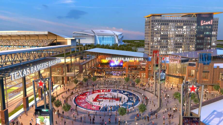 Texas Live! is a 200,000-square-foot entertainment space, complete with a hotel and convention, is set to open in Arlington, Texas in the spring of 2018,The Dallas Morning News reported. The new space will cost about $250 million and will be located next to the Texas Rangers' Globe Life Park. Photo: Courtesy/Texas Live!