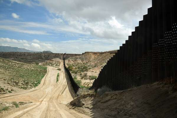 The U.S.-Mexico border in Sunland Park, New Mexico, east of El Paso is pictured.