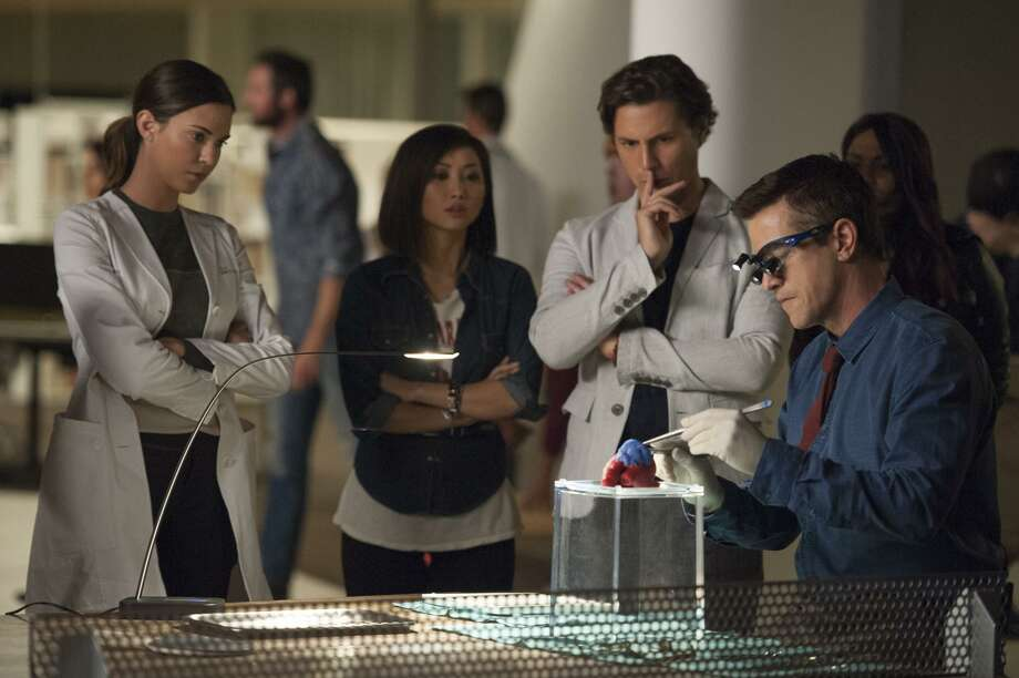 """Odette Annale (left), Brenda Song, Augustus Prew and Dermot Mulroney work in a high-tech hospital in """"Pure Genius."""" Photo: Colleen Hayes / Colleen Hayes / CBS / ©2016 CBS Broadcasting, Inc. All Rights Reserved"""