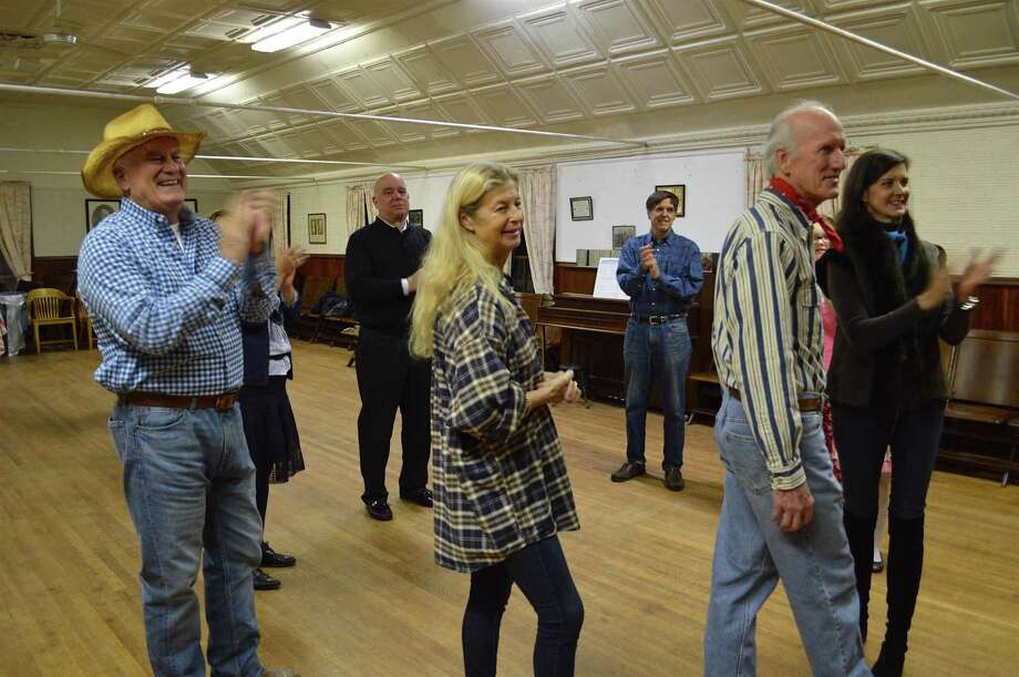 Dancers applaud the musicians at The Greenfield Hill Grange's square dance, Saturday, Oct. 22, 2016, in Fairfield, Conn. Photo: Jarret Liotta / For Hearst Connecticut Media / Fairfield Citizen News Freelance