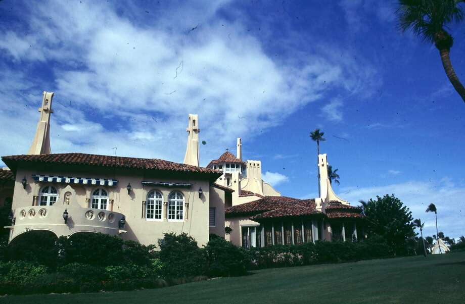 A 1995 exterior photo of the lavish West Palm Beach mansion Mar-A-Lago. The home is owned by Donald Trump and is the site of his wedding reception to take place on January 22, 2005. The home was built by cereal heiress Marjorie Merriweather Post, and has been the site of such celebrity get-a-ways as Michael Jackson's honeymoon with Lisa Marie Presley.  REUTERS/Marc Serota Photo: MARC SEROTA, REUTERS