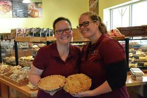 A scene from Pies for Polio on Monday, Oct. 24, 2016 at The Grand Traverse Pie Co. in Midland. The restaurant donated some of the proceeds from each pie sale to The Rotary Foundation to help eliminate polio throughout the world.
