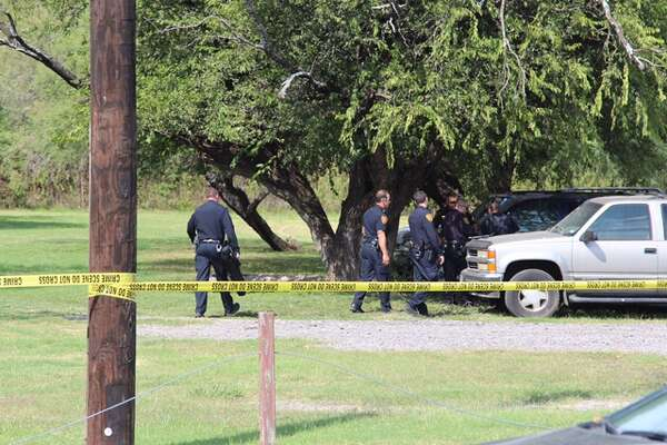 SAPD at the scene of an officer-involved shooting along Nacogdoches Road near Lady Bird Johnson Park on Monday, Oct. 24, 2016.