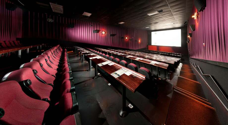 The interior of an Alamo Drafthouse in Austin, where the theater chain was founded by Tim and Carrie League. (Courtesy of drafthouse.com)