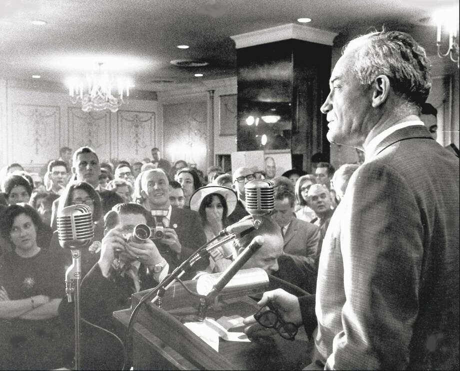 Barry Goldwater addresses supporters in Washington, D.C., on March 10, 1964 file photo. Photo: AP File Photo