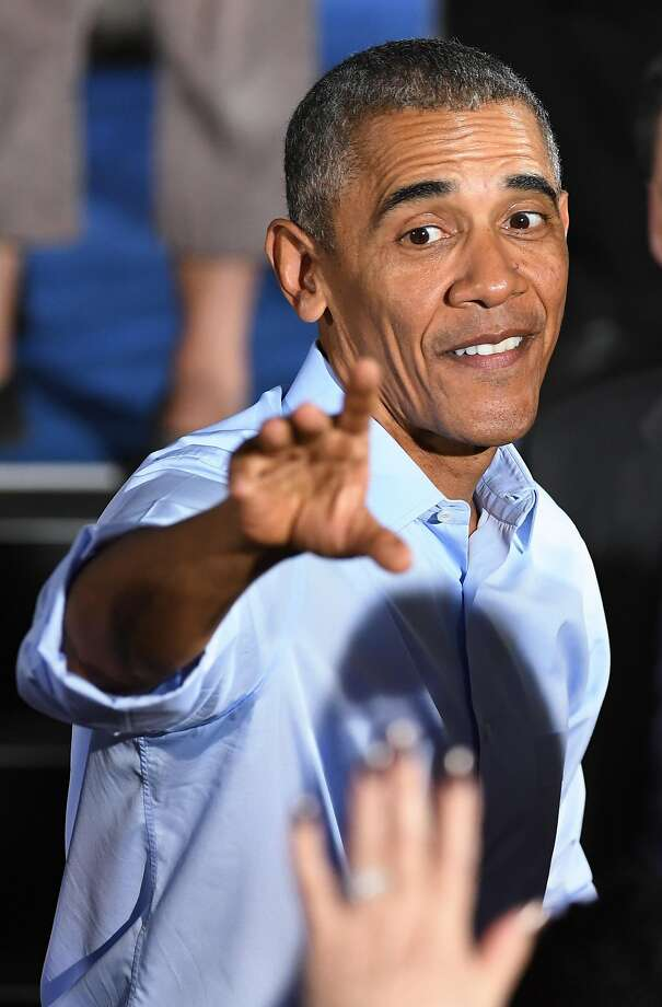 President Obama waves to supporters at a campaign rally for Democratic candidates in North Las Vegas on Sunday. Photo: Ethan Miller, Getty Images