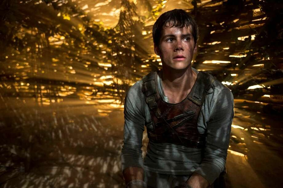 "Dylan O'Brien appears in a scene from the film, ""The Maze Runner."" (AP Photo/20th Century Fox, Ben Rothstein)"