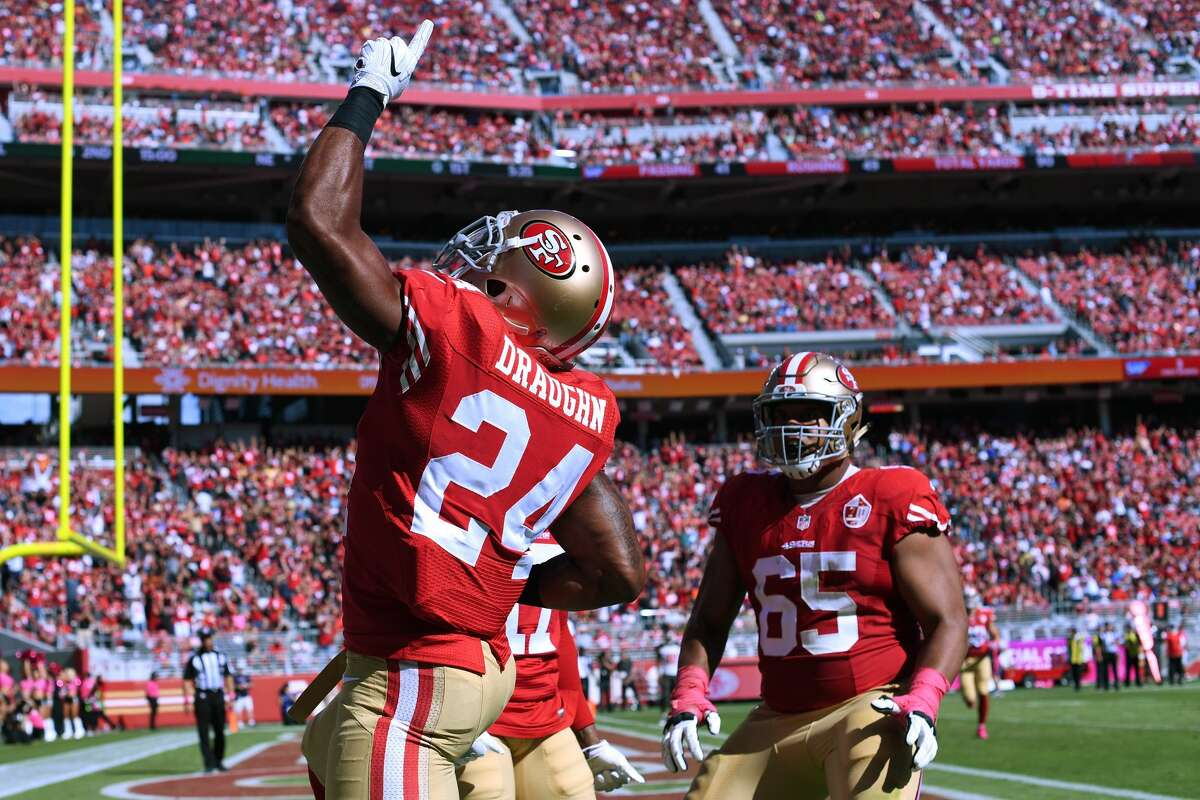 31. San Francisco 49ers (1-6): Running back Shaun Draughn put the Niners up 14-0 with seconds left in the first quarter versus Tampa Bay. It was all downhill from there. Last week: 32