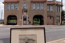A historic photo of Fire Station No. 7 is seen at the station, 604 S. Alamo, on June 10, 2002. No. 7 is set to become Battalion, the latest offering from restaurateurs Andrew Goodman and Stefan Bowers before the end of the year.
