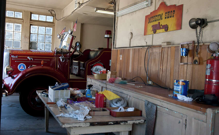 A 1951 fire engine sits in the old Fire Station No. 7, on Aug. 17, 2011. No. 7 is set to become Battalion, the latest offering from restaurateurs Andrew Goodman and Stefan Bowers before the end of the year.