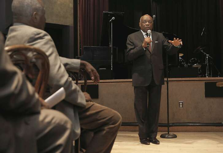 Former San Francisco Mayor Willie Brown speaks at Yoshi's to push for more funding and job opportunities for people of color in the cannabis industry  on Monday, October 24, 2016, in Oakland, Calif.