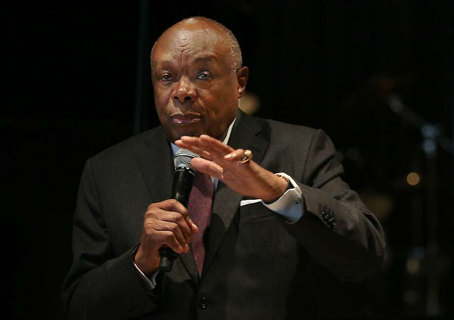 "Former San Francisco Mayor Willie Brown will be the headliner at a ""thank you"" lunch for members of San Francisco city commissions. Photo: Liz Hafalia, The Chronicle"