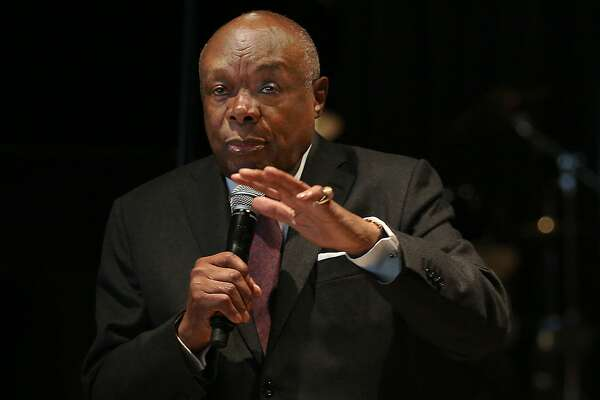 Former San Francisco Mayor Willie Brown comes to Yoshi's to push for more funding and job opportunities for people of color in the cannabis industry  on Monday, October 24, 2016, in Oakland, Calif.