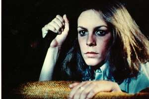 """**FILE**This undated file photo, originally released by AMC and Anchor Bay Entertainment, shows actress Jamie Lee Curtis in a scene from the 1978 horror film classic, """"Halloween,"""" directed by John Carpenter.   A digitally remastered, high-definition version of the film, which turned Curtis into a star, will play at 8 p.m. Oct. 30 and 31 in 150 U.S. movie houses. (AP Photo/AMC, Anchor Bay Entertainment)"""