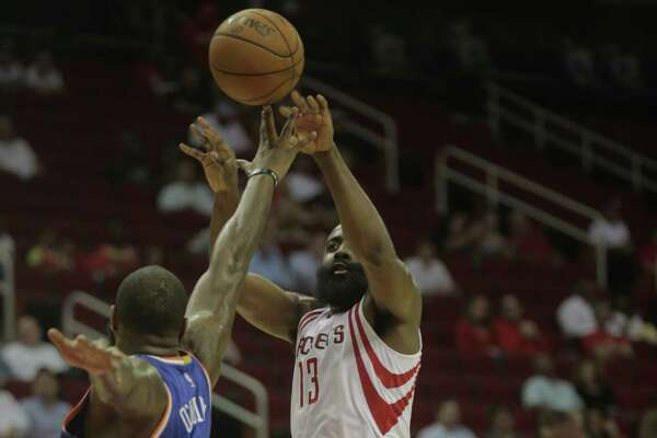 Again, the Rockets will hand over their offense to guard James Harden (13), who led the NBA in assists this preseason with 10.7 per game.