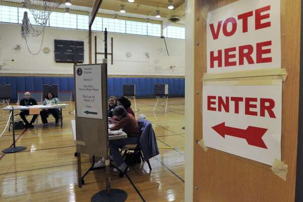 Western Middle School, one of the polling places for the election in Greenwich on Nov. 3, 2015.