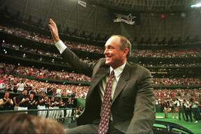 Always a fan favorite in Houston, Nolan Ryan had his number retired during a ceremony at the Astrodome on Sept. 29, 1996. The Astros made Ryan baseball's first million-dollar man.