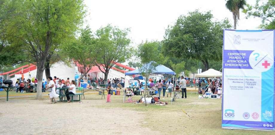 Familias disfrutaron los diferentes sitios para recreación en Nuevo Laredo, México, durante el Domingo de Pascua, donde además agradecieron la presencia de las autoridades. (Foto de cortesía)
