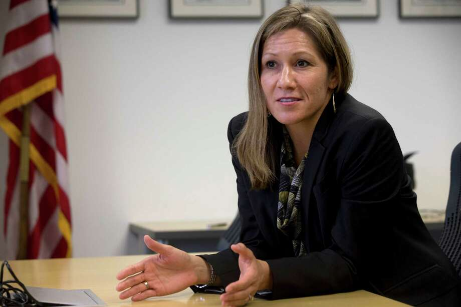In this photo taken April 30, 2014, Amanda Renteria is interviewed in Washington.  Photo: Jacquelyn Martin, STF / Copyright 2016 The Associated Press. All rights reserved.
