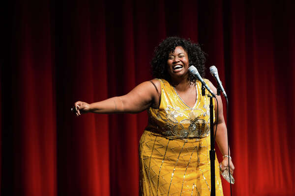Outstanding Supporting Actress: Play award recipient Shermona Mitchell speaks during the 8th annual Gregory Awards at McCaw Hall on Monday, Oct. 24, 2016.