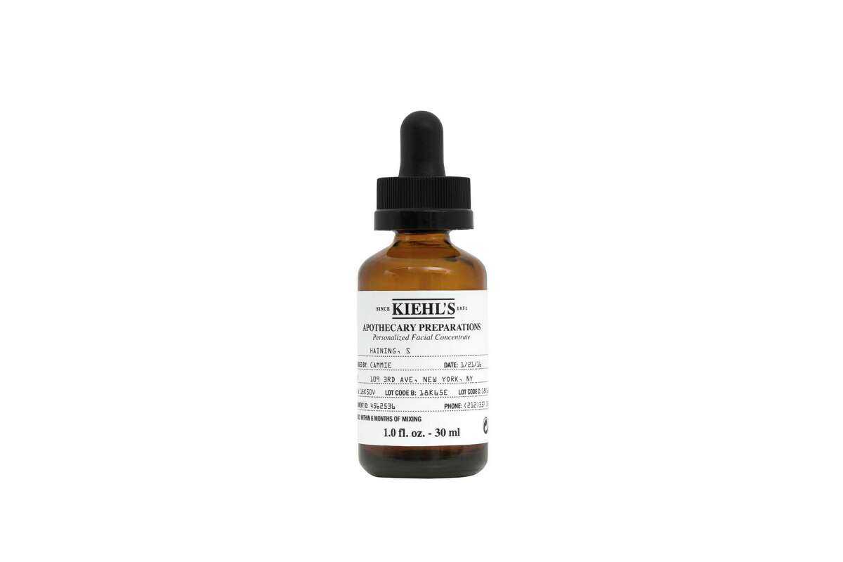 Apothecary Preparations is a new full skincare personalization service offered at select Kiehl's stores including Houston at 4076 Westheimer in Highland Village. Shown: the base Skin Strengthening Concentrate.