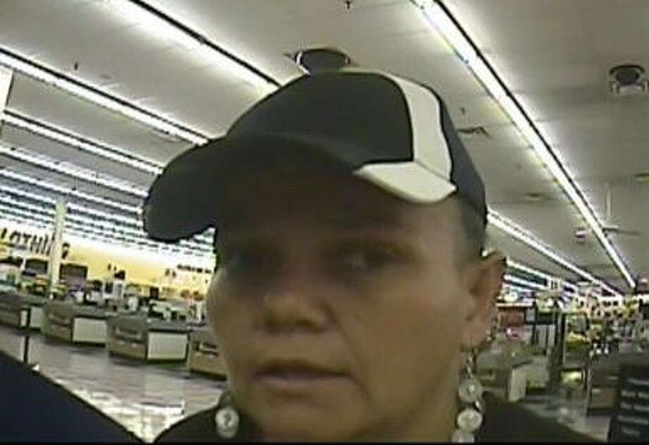 The FBI seeks this woman who allegedly robbed a bank inside a Fiesta Mart in north Houston.