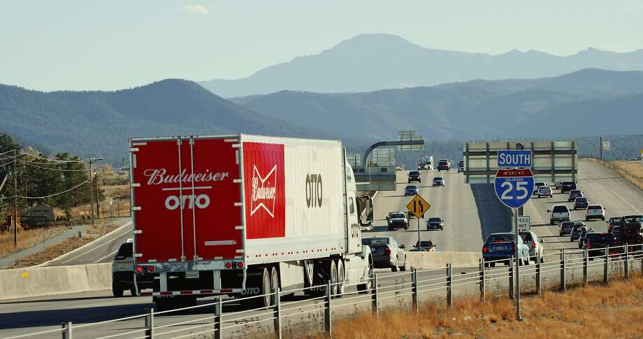 A self-driving truck from Otto, a company acquired by Uber this summer, delivered 51,744 cans of Budweiser �from Fort Collins to Colorado Springs. A driver relaxed in the sleeper berth during the 120-mile highway portion of the trip, which was approved by Colorado regulators. Photo: Otto