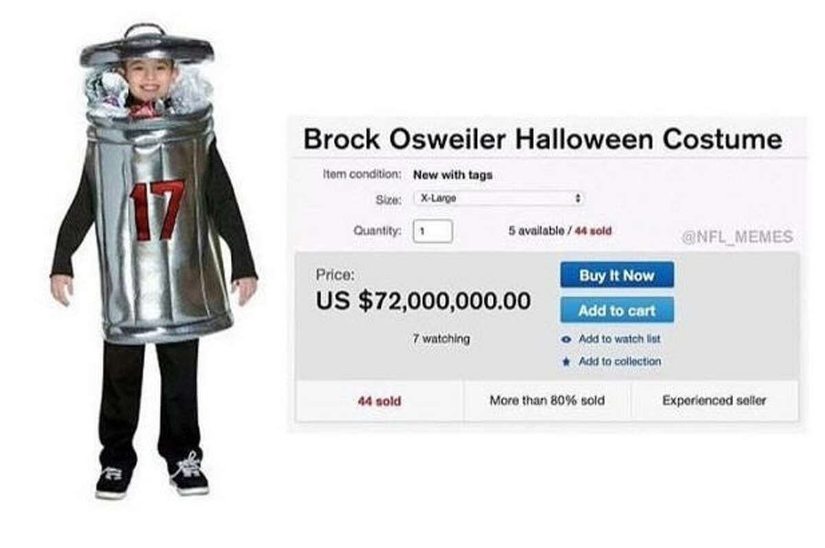 The NFL Memes Twitter and Facebook pages shared out a photo of a deluxe $72 million Brock Osweiler Halloween costume.