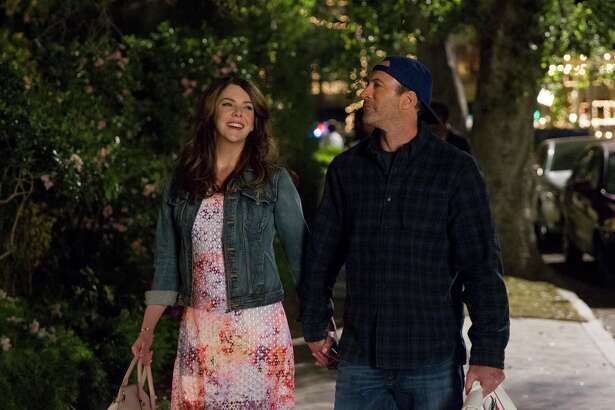 "Lauren Graham and Scott Patterson in a still from Netflix's ""Gilmore Girls: A Year In The Life."""