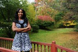 Macylne Josselin, the founder of new Stamford-based personal finance business Project 13:7, poses for a photo in Stamford, Conn. on Tuesday, Oct. 25, 2016.