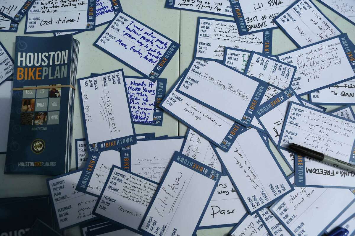BikeHouston, which organized the Oct. 25 ride and rally in support of the city's proposed bike plan, collected names and personal information to show support for the plan.