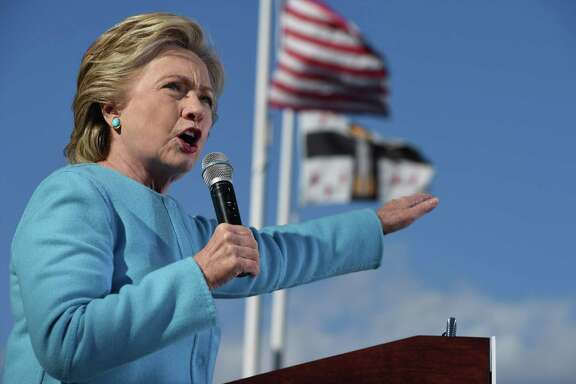 Hillary Clinton speaks at a rally on Monday. The dangers of a Clinton presidency are more familiar than Trump's authoritarian unknowns. They're the dangers of elite groupthink, of Beltway power worship, of a cult of presidential action in the service of dubious ideals.