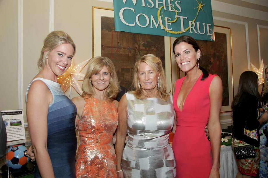 From left, Make a Wish Ball 2015 co-chairs Julie Rivard, Sharon Platter, Gina Filippelli and Brooke Bohnsack. Bohnsack, a Greenwich resident, is again a cochair for the 2016 ball on Nov. 5 Photo: Contributed Moffly Media / © Kbphotography 2015 / © kbphotography 2015