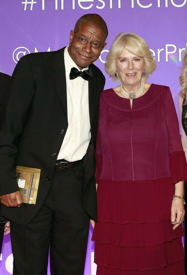 Paul Beatty, Man Booker Prize winner, with Camilla, the Duchess of Cornwall, during the prize ceremony in London. Photo: John Phillips, Associated Press