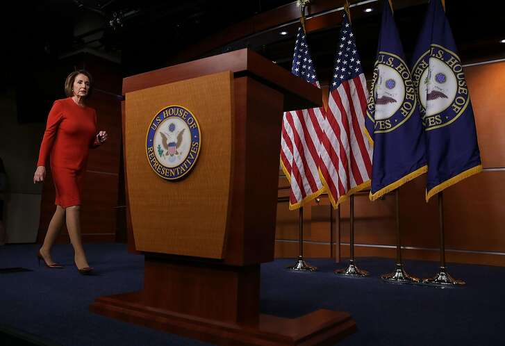 WASHINGTON, DC - OCTOBER 19:  U.S. House Minority Leader Rep. Nancy Pelosi (D-CA) walks towards the podium to speak to members of the media on Capitol Hill October 19, 2016 in Washington, DC. Pelosi held her weekly news conference to answer questions from the media.  (Photo by Alex Wong/Getty Images)