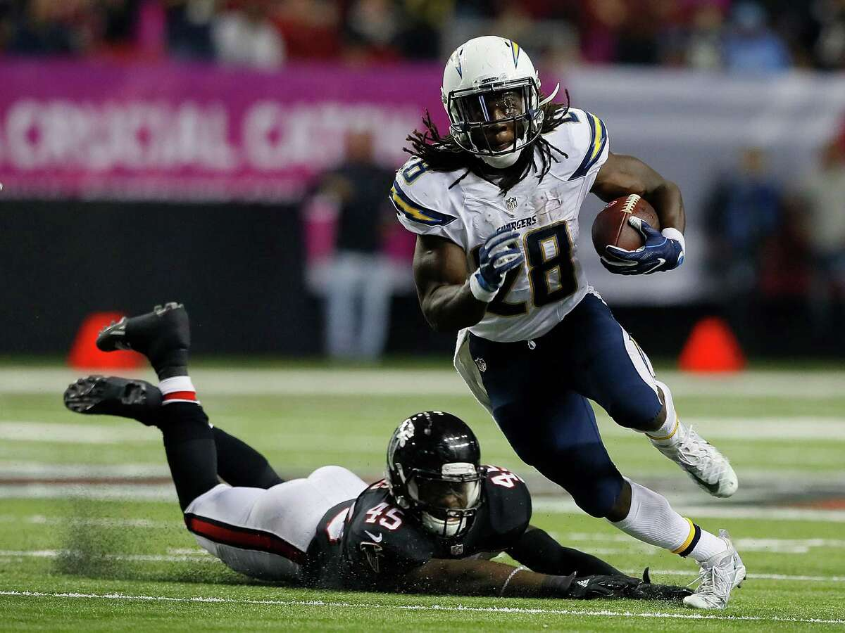 MUST CONTAIN GORDON Second-year running back Melvin Gordon has been exceptional with 838 yards rushing and nine touchdowns for a running game that ranks 18th. The Texans have allowed 56 yards rushing over their last three games. They have to be disciplined in their gaps, have outside containment and not let Gordon get yards after the catch. They have to get penetration up front and get as many helmets on Gordon as possible. If he gets a slither of room, he's explosive, has good acceleration and breaks a lot of tackles.