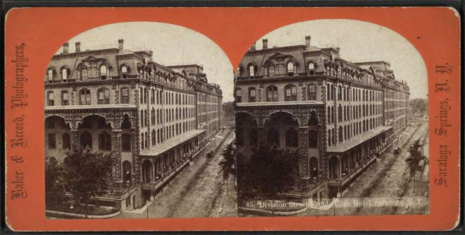 Division Street in Saratoga Springs. Photo: Baker & Record / New York Public Library Digital Collection