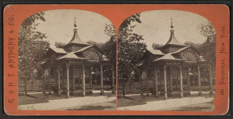 The Pavilion Spring in Saratoga Springs. Photo: E. & H.T. Anthony / New York Public Library Digital Collection