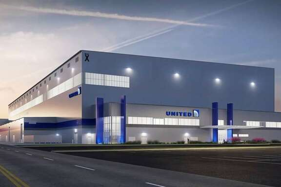 Rendering of the new United Airlines Technical Operations Center being built at Bush Intercontinental Airport. Courtesy of United.