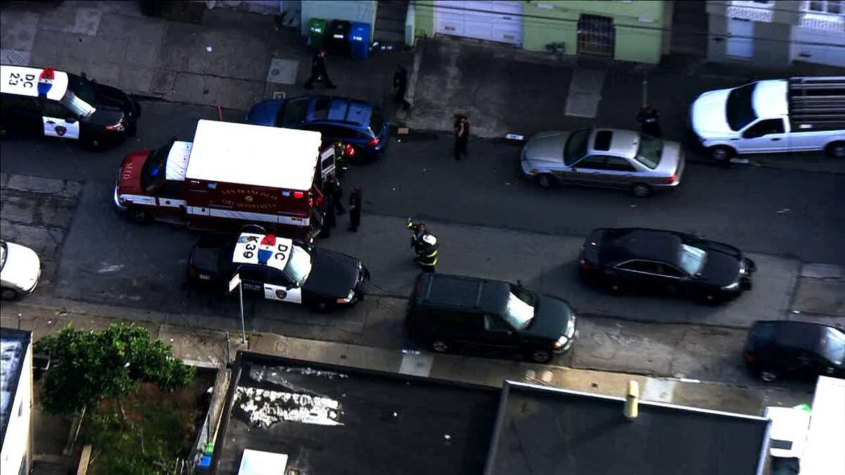 Police and other officials were investigating an incident in San Francisco's Ocean View neighborhood on Tuesday, Oct. 25, 2016.