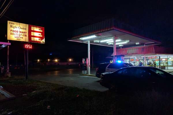 San Antonio Police Department officers said a 29-year-old man was struck by gunfire at about 8:30 p.m. in the parking lot of The Right Choice Food Mart, 8011 Midcrown Dr. on Oct. 25, 2016.