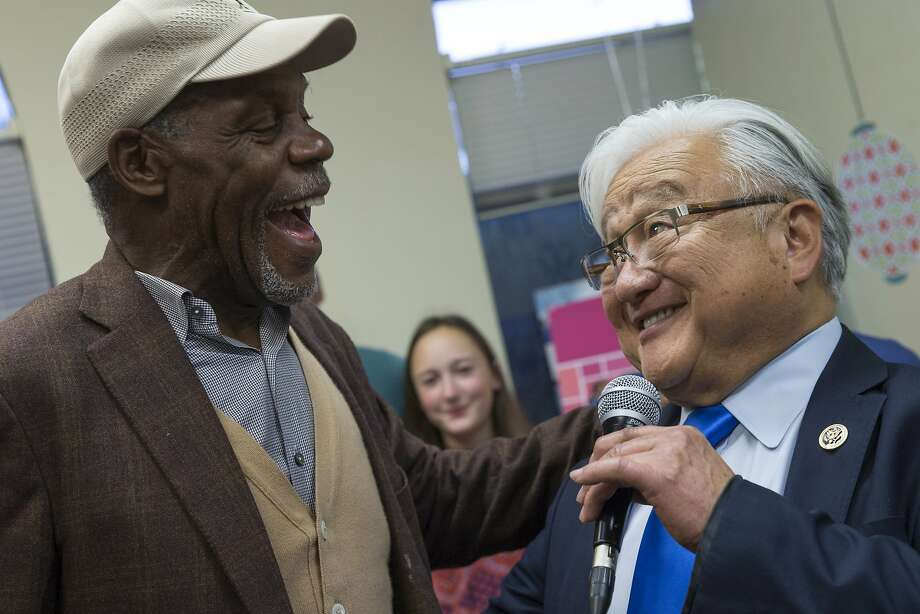 From left: Danny Glover and Rep. Mike Honda, D-Calif., during a get-out-the-vote rally at Honda's campaign headquarters, on Tuesday, Oct. 25, 2016 in Cupertino, Calif. Photo: Santiago Mejia, The Chronicle