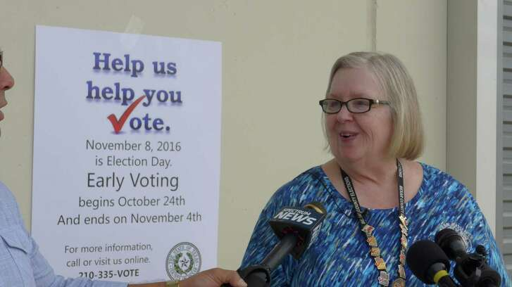 Bexar County Elections Administrator Jacque Callanen discusses the record-setting start of early voting.