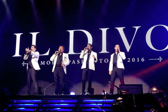 "Il Divo quartet in concert during their ""Amor & Pasion"" tour."