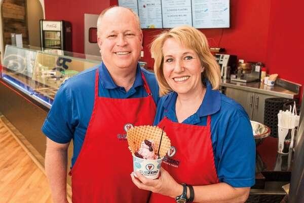 Jerry and Naomi Hancock, founders of Sub Zero Ice Cream and Yogurt.